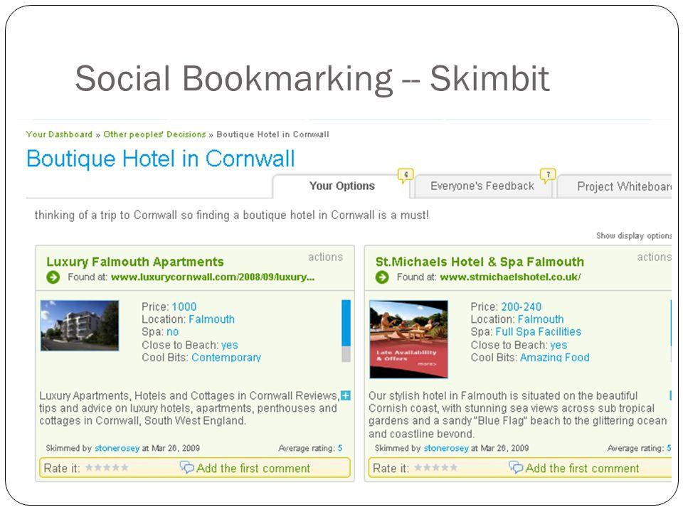 Social Bookmarking -- Skimbit