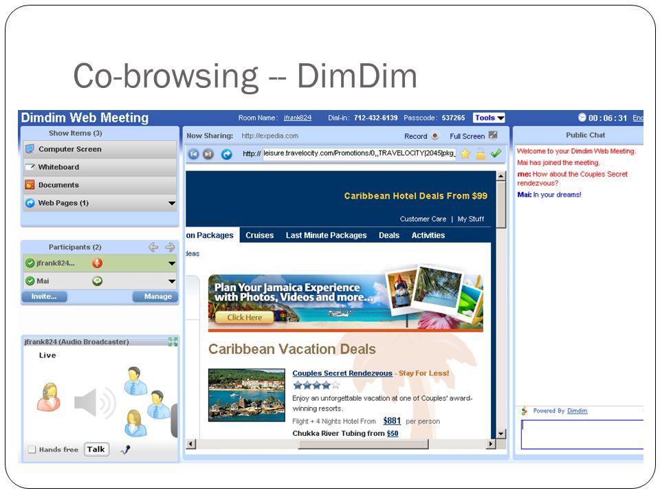 Co-browsing -- DimDim