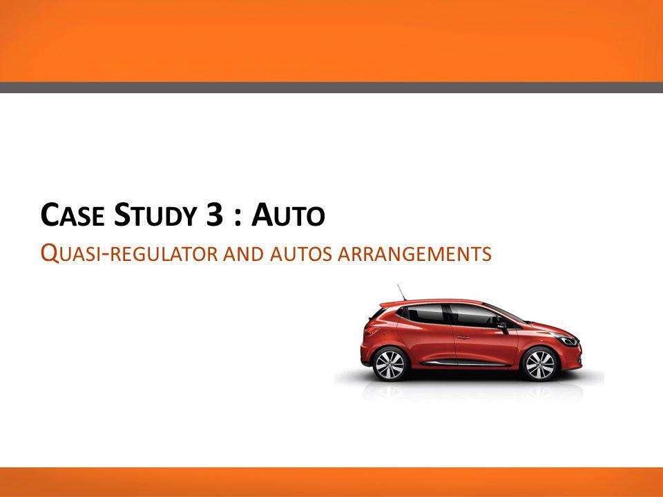 C ASE S TUDY 3 : A UTO Q UASI - REGULATOR AND AUTOS ARRANGEMENTS