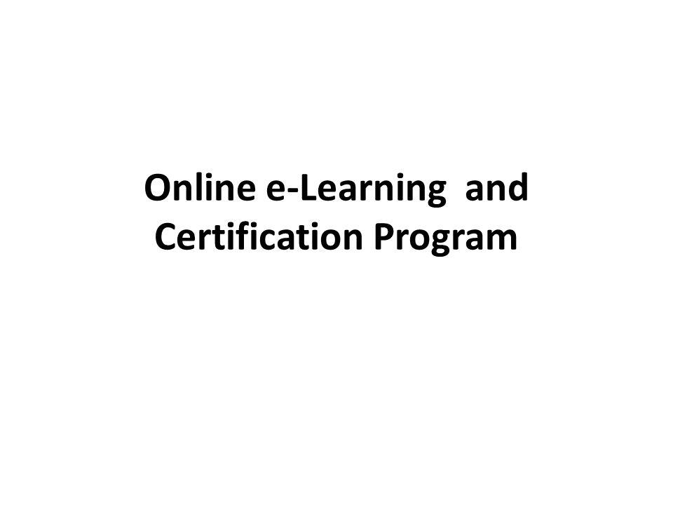 Online e-Learning and Certification Program