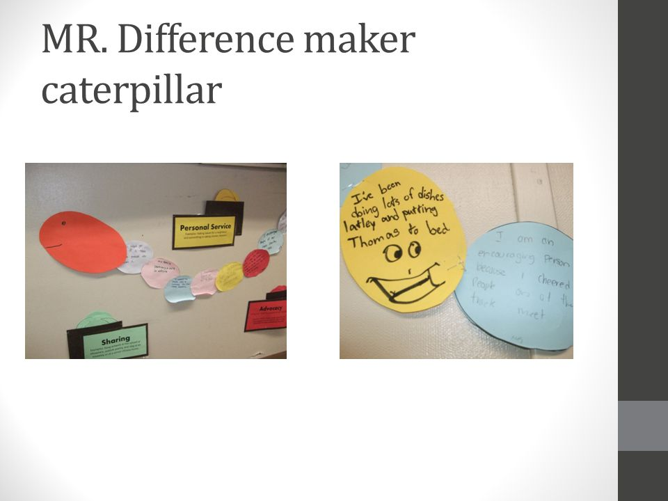 MR. Difference maker caterpillar