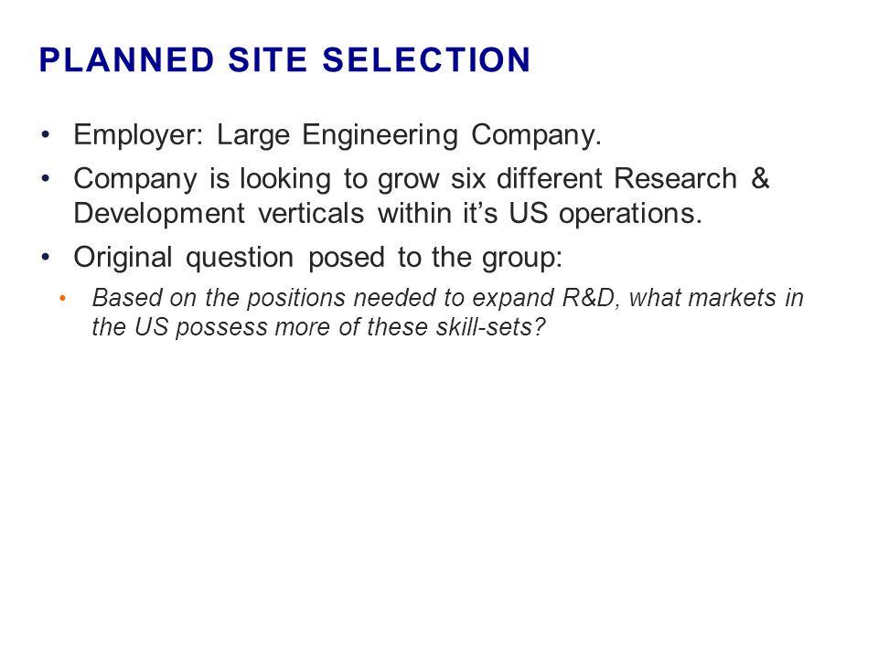 Employer: Large Engineering Company.