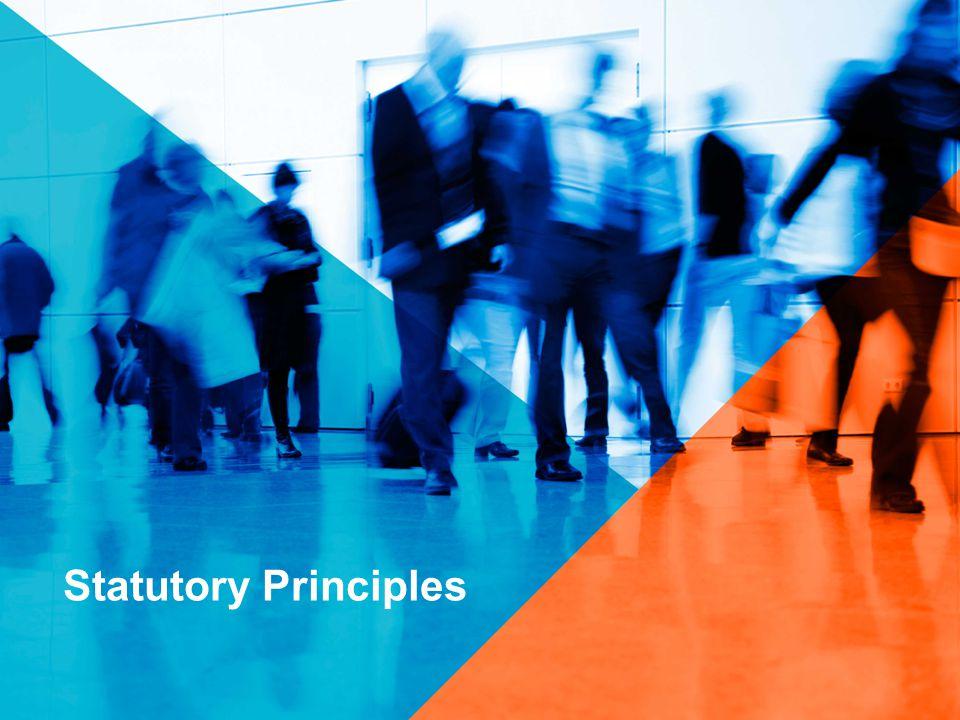 Statutory Principles