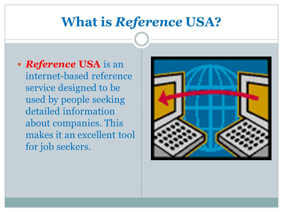 What is Reference USA.