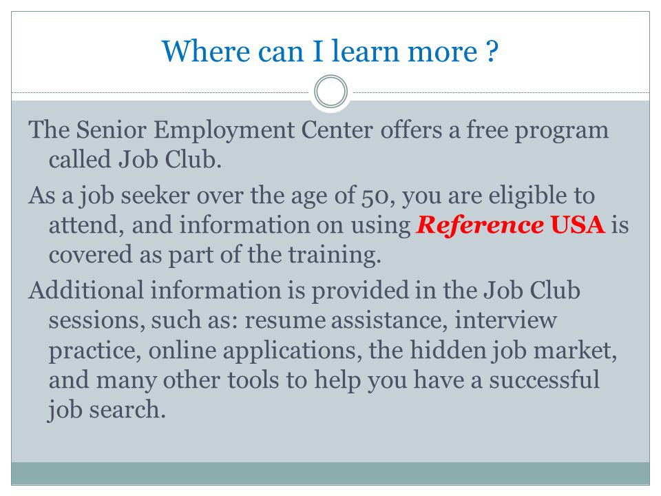 Where do I go to sign up for Job Club.Our offices are located throughout Ohio.