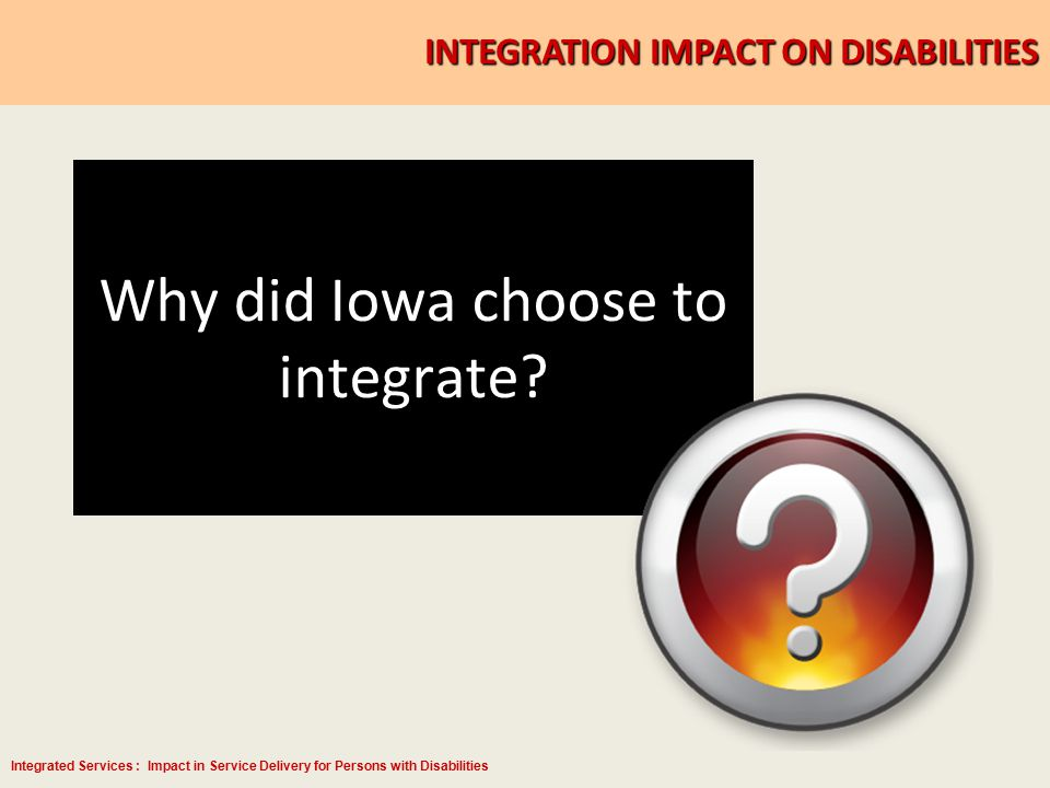 Integrated Services : Impact in Service Delivery for Persons with Disabilities Not Received Service for More Than 45 Days Report E-mailed to Leadership weekly NameAddressEmailCity State Zip Home Phone Cell Phone Work Phone Other Phone Veteran Type Cd Disability Last Countable Service Received Job SeekerPO BOX 777 jobseekerl@hotmail.co m BURLINGTON, IA 52601 (xxx) xxx- xxx 05/18/2010 Job Seeker123 S LEEBRICK ST jobseeker@iwd.iowa.go v BURLINGTON, IA 52601 (xxx) xxx- xxx 05/18/2010 Job Seeker999 S SUMNER AVE OAKVILLE, IA 52646 (xxx) xxx- xxx V - RegularY05/28/2010 Job Seeker 222 W.