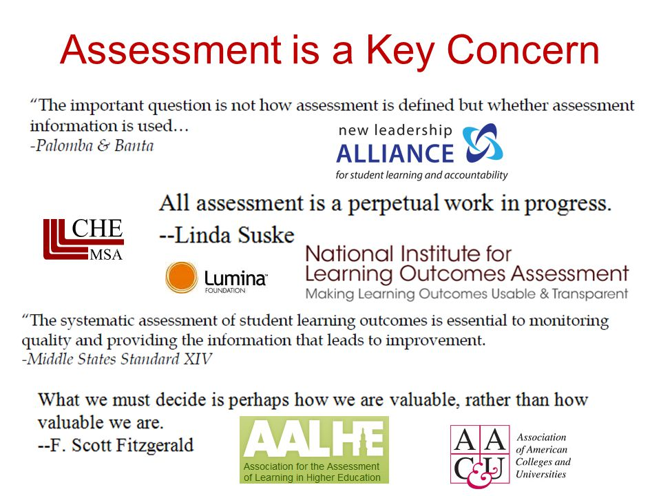 Assessment is a Key Concern