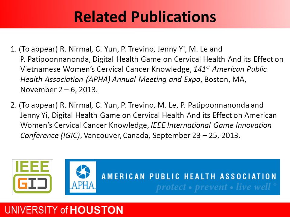 Related Publications 1. (To appear) R. Nirmal, C.