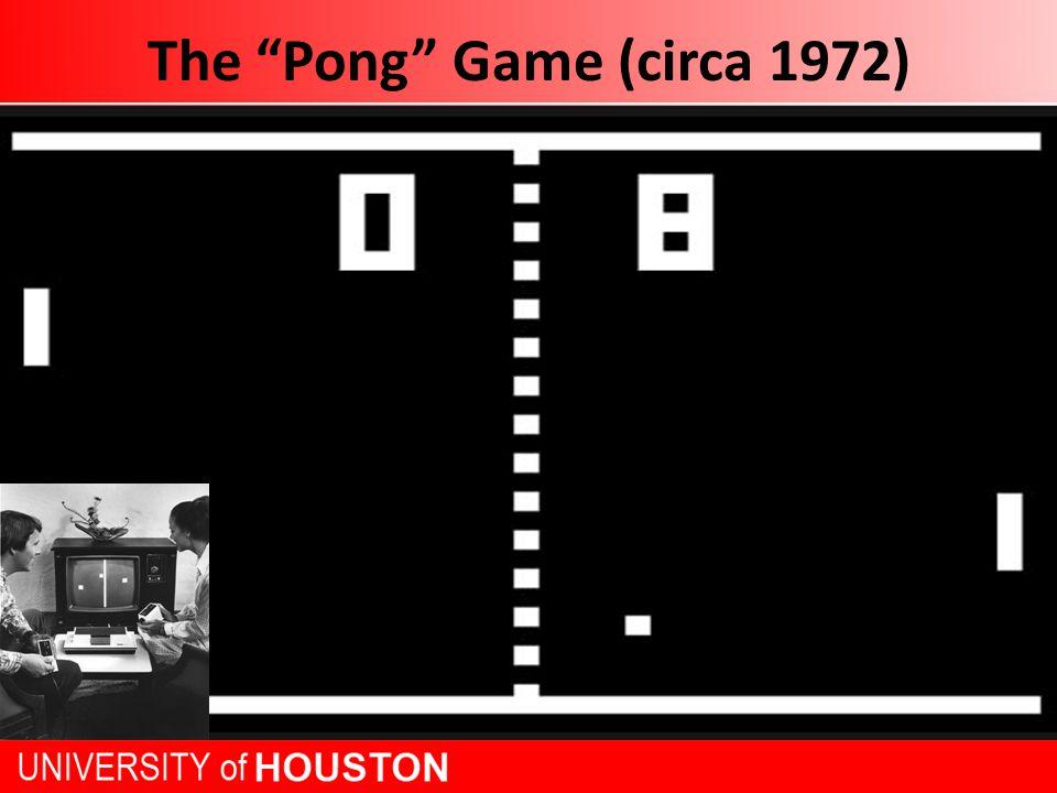 The Pong Game (circa 1972)