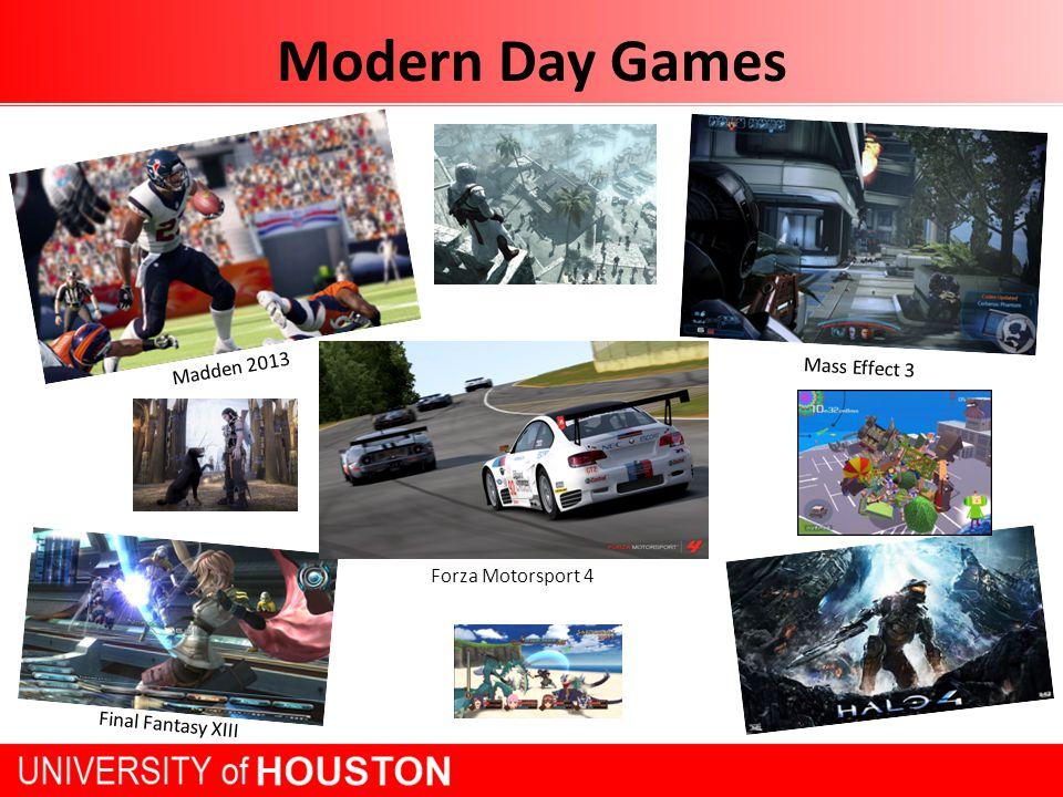 Modern Day Games Madden 2013 Forza Motorsport 4 Final Fantasy XIII Mass Effect 3