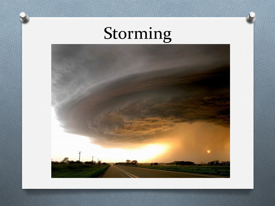 O Storming is when members of the team learn to bend and mold their feelings, ideas, attitudes, and beliefs to suit the team organization O Usually through competition and conflict O Questions about who is responsible for what, what the rules are, what the reward system is, and what the evaluation criteria are arise
