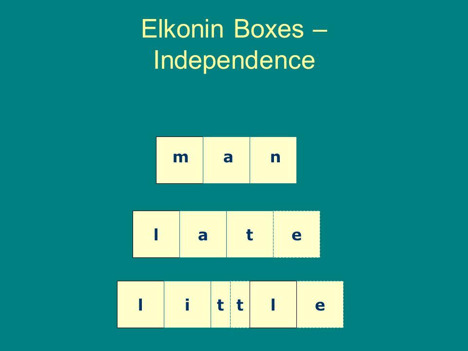 Elkonin Boxes – Independence man late litetl