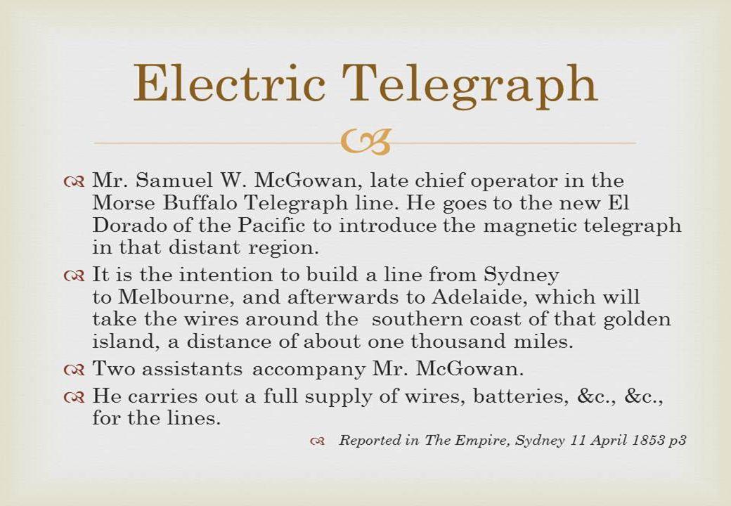 7 First telecommunications legislation in Australia