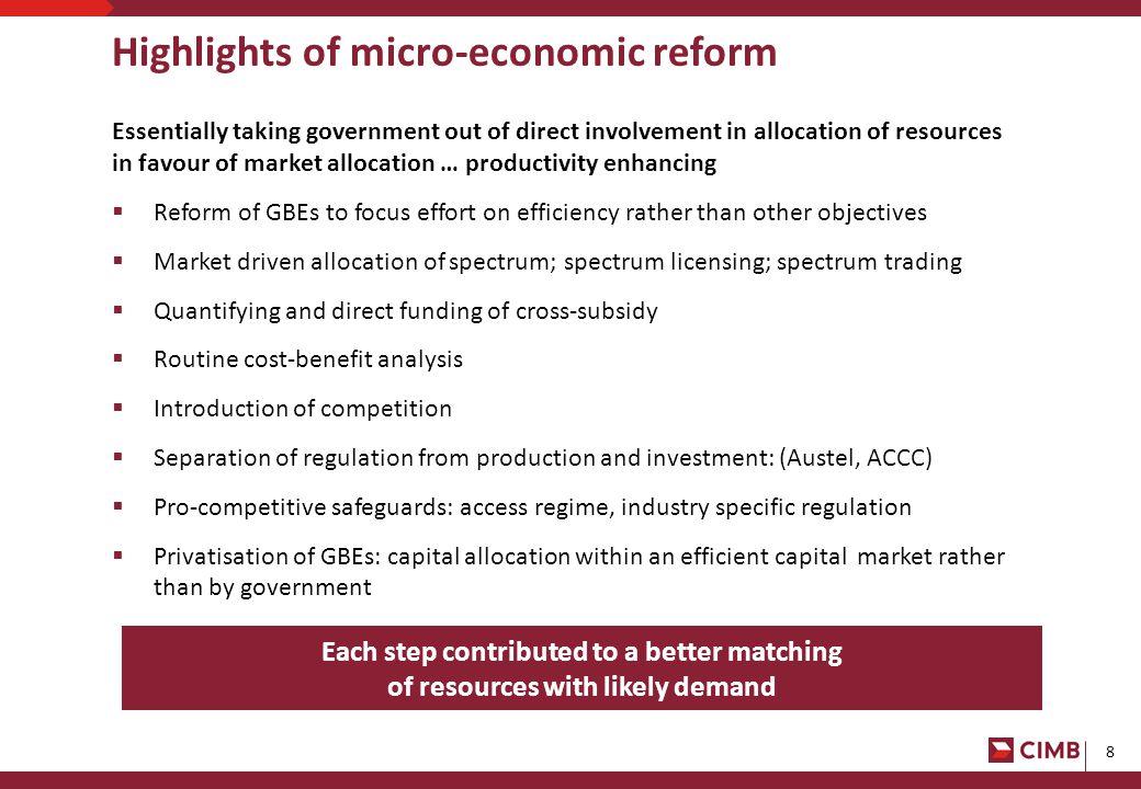 9 Undermining microeconomic reform...