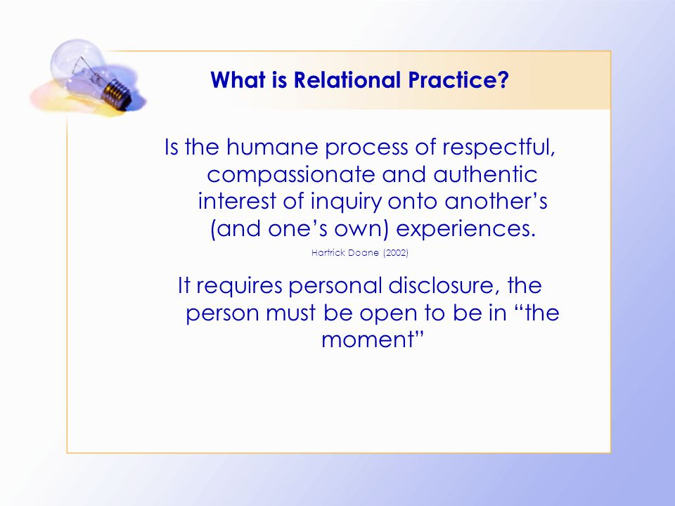 What is Relational Practice.