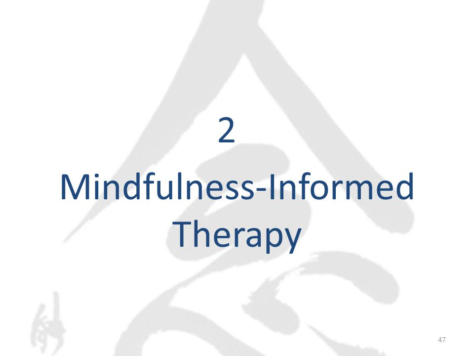 2 Mindfulness-Informed Therapy 47
