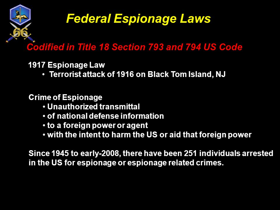 QUESTIONS? REMEMBER Espionage is a serious National security crime It can have far reaching It can have far reaching and deadly implications and deadl