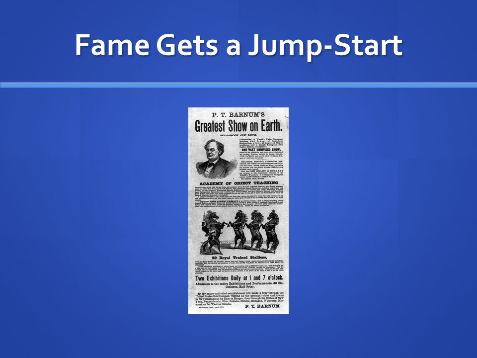Fame Gets a Jump-Start