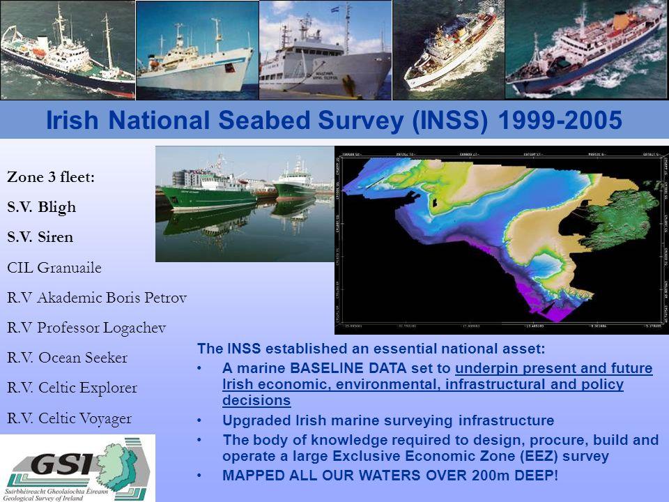 Irish National Seabed Survey (INSS) 1999-2005 Zone 3 fleet: S.V.