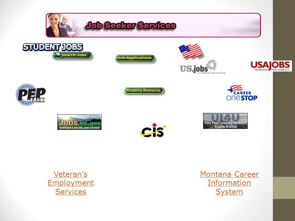 Veteran s Employment Services Montana Career Information System