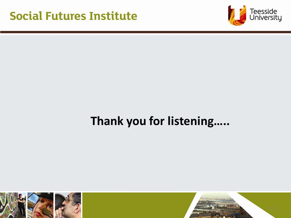 Thank you for listening….. 13