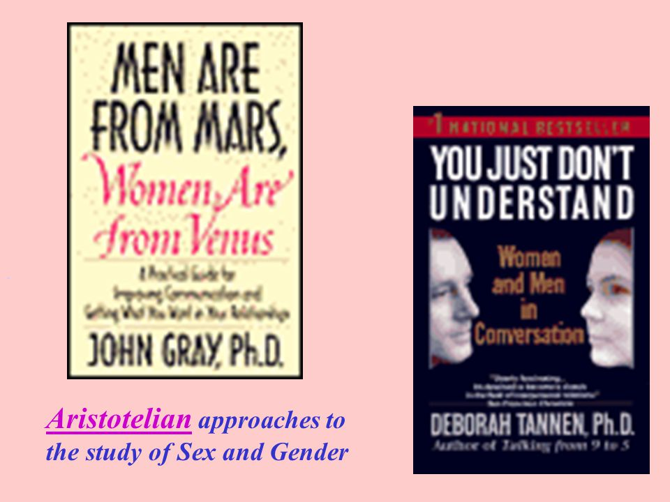 Aristotelian approaches to the study of Sex and Gender