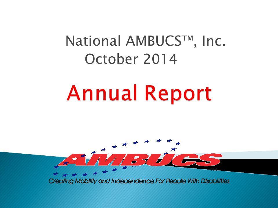 National AMBUCS™, Inc. October 2014