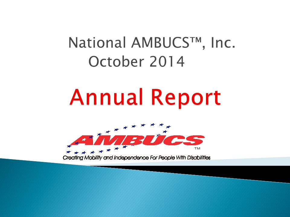National AMBUCS™, Inc. October 2014