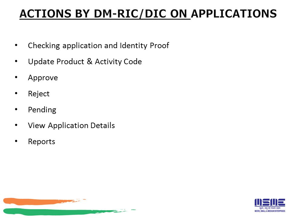 Checking application and Identity Proof Update Product & Activity Code Approve Reject Pending View Application Details Reports