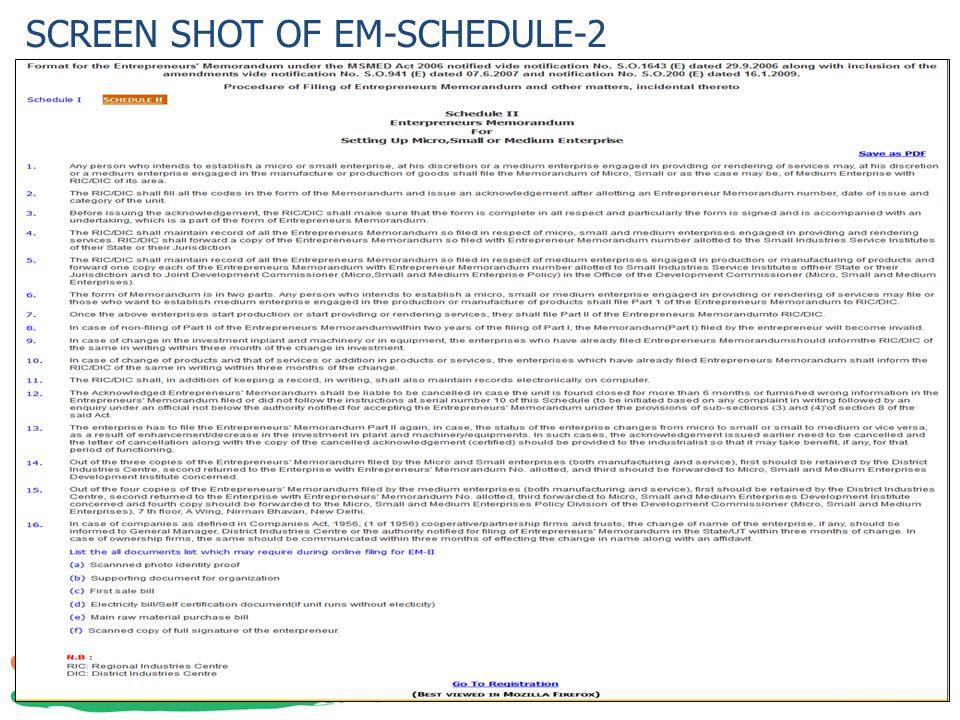 SCREEN SHOT OF EM-SCHEDULE-2