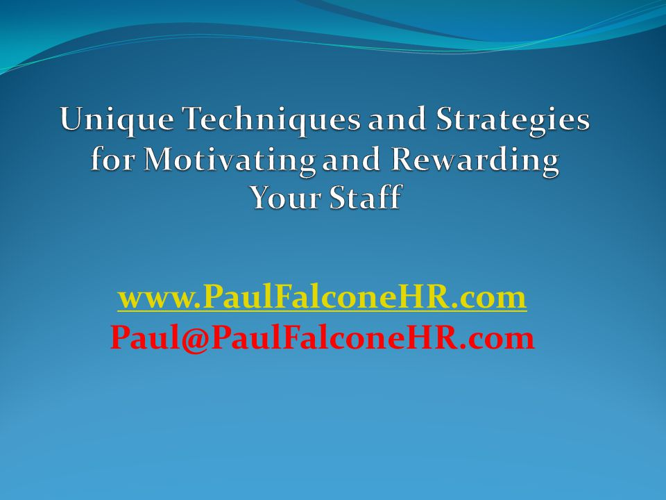 Contents General Rules and Myths about Motivation Gauging Employee Engagement Common Reasons for Leaving Companies www.PaulFalconeHR.com2