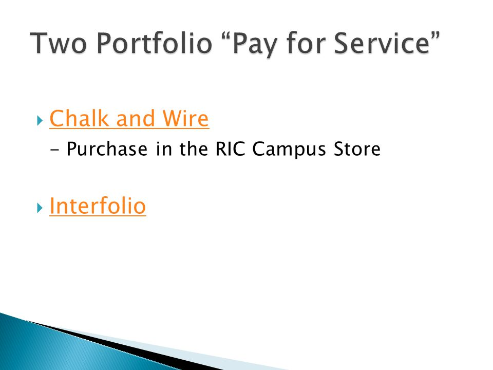  Chalk and Wire Chalk and Wire - Purchase in the RIC Campus Store  Interfolio Interfolio