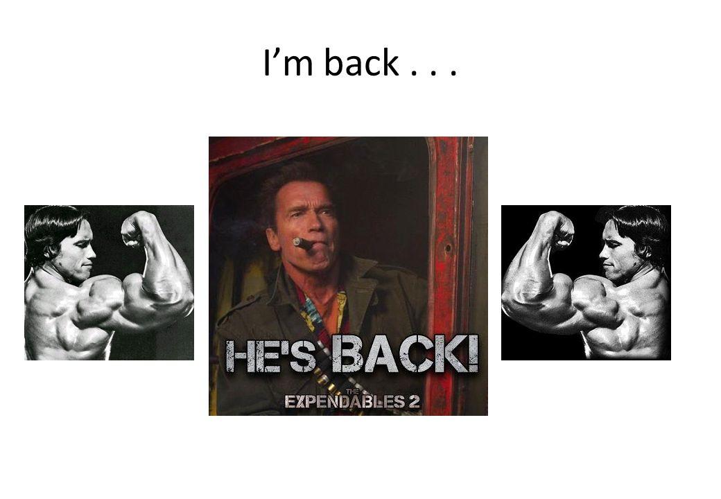 I'm back...