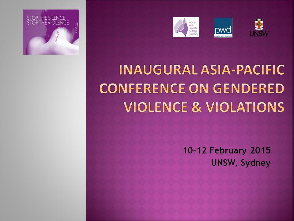 10-12 February 2015 UNSW, Sydney