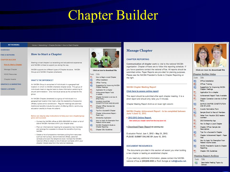 Chapter Builder