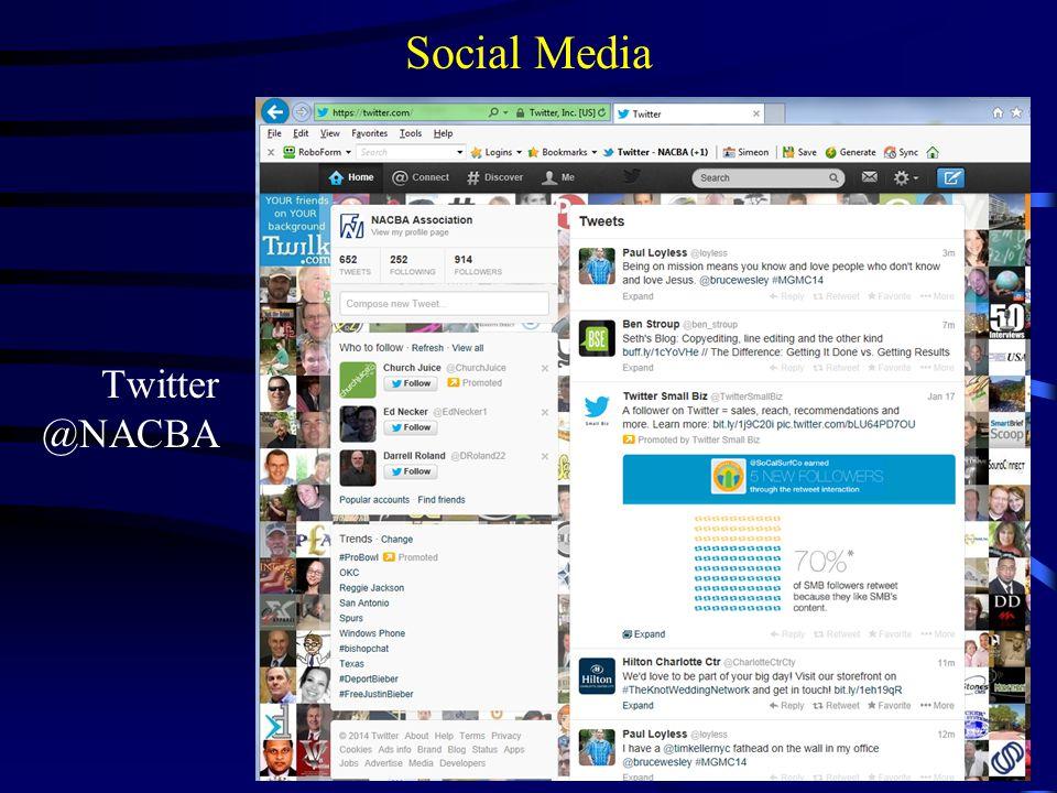 Social Media Twitter @NACBA