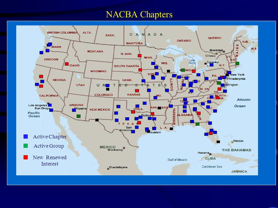 Active Chapter Active Group New Renewed Interest NACBA Chapters