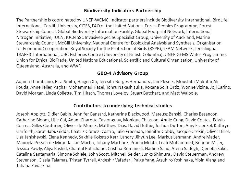 Contributors to underlying technical studies Joseph Appiott, Didier Babin, Jennifer Bansard, Katherine Blackwood, Mateusz Banski, Charles Besancon, Ca