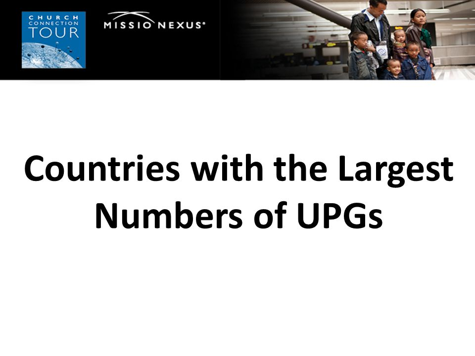 Countries with the Largest Numbers of UPGs