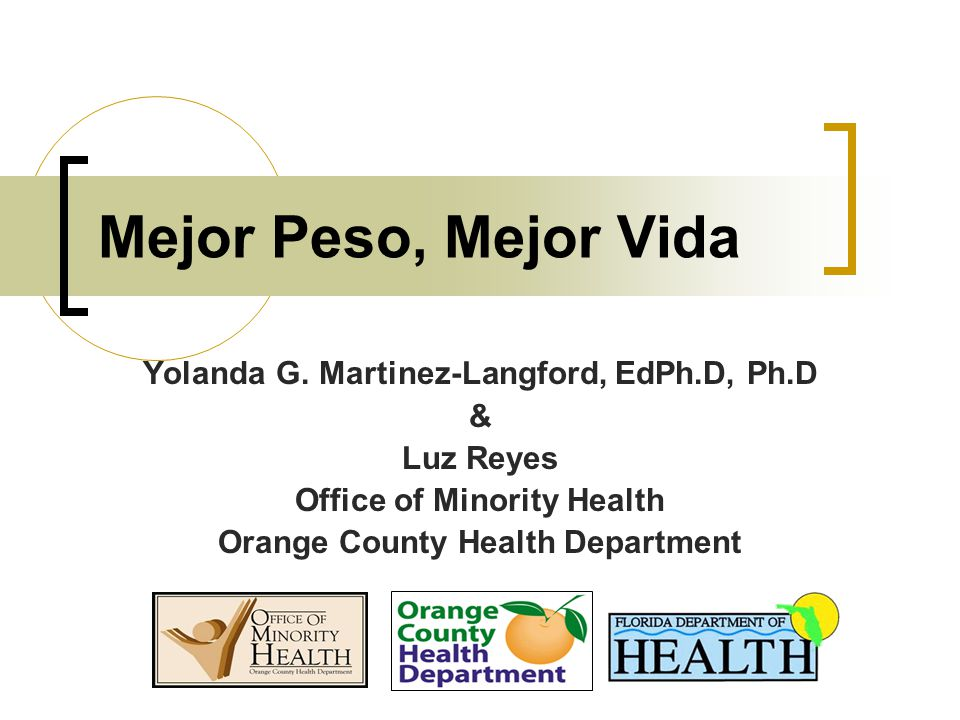 Mejor Peso, Mejor Vida Yolanda G.