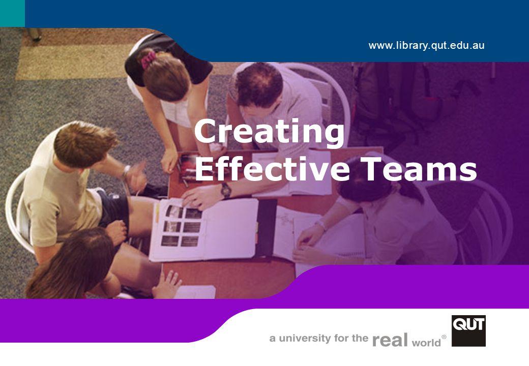 Creating Effective Teams 1 www.library.qut.edu.au Creating Effective Teams