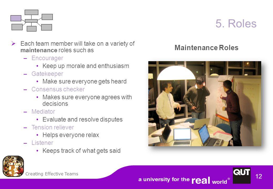 Creating Effective Teams 12 5.