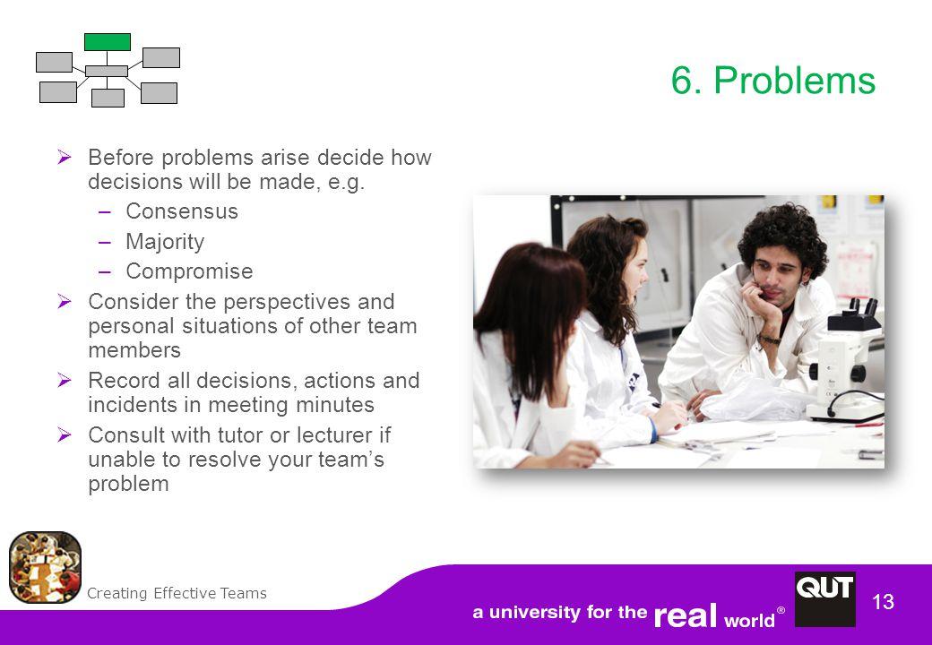 Creating Effective Teams 13 6.
