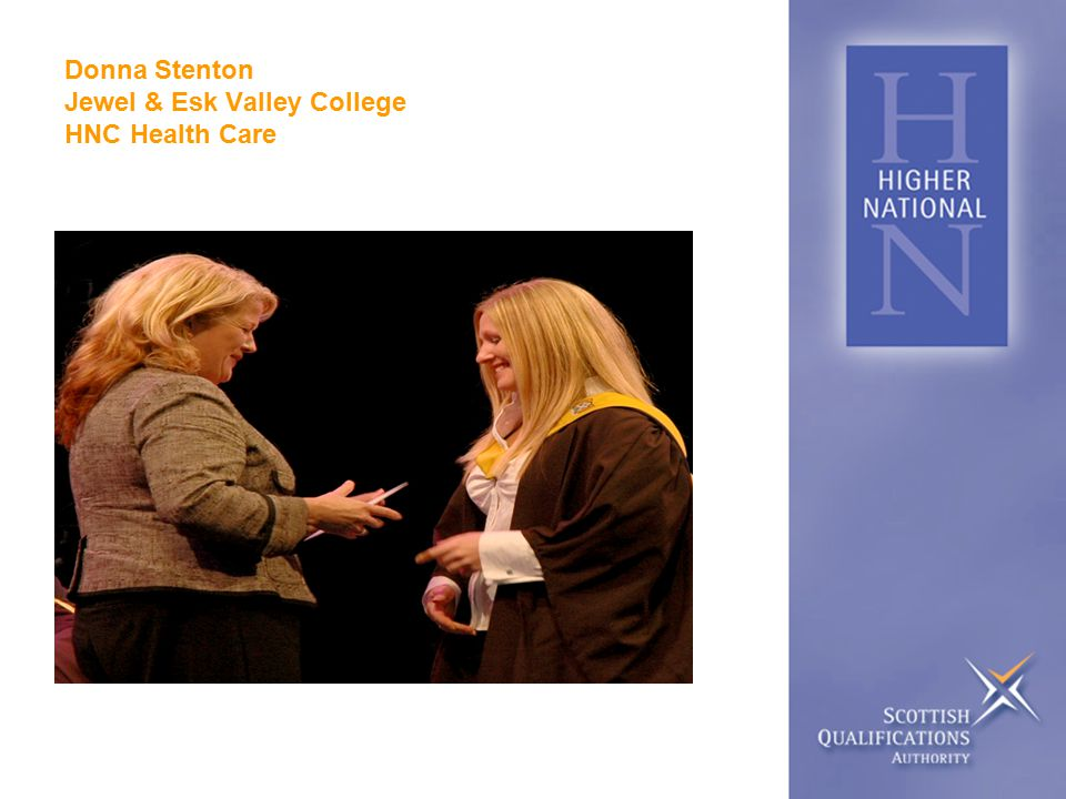 Donna Stenton Jewel & Esk Valley College HNC Health Care