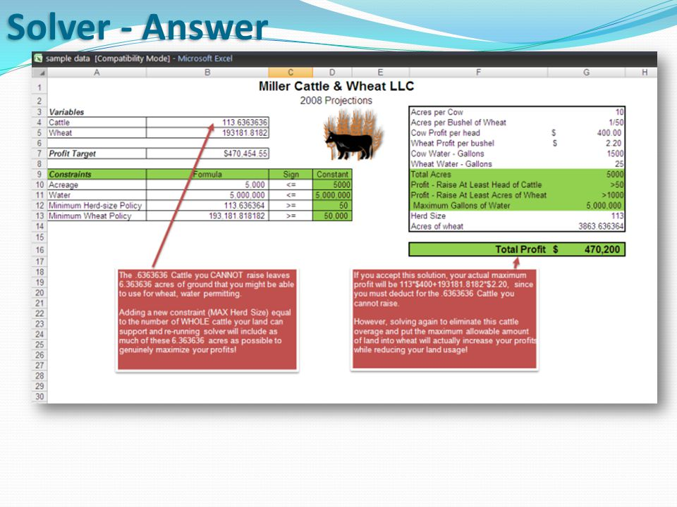 Solver - Answer