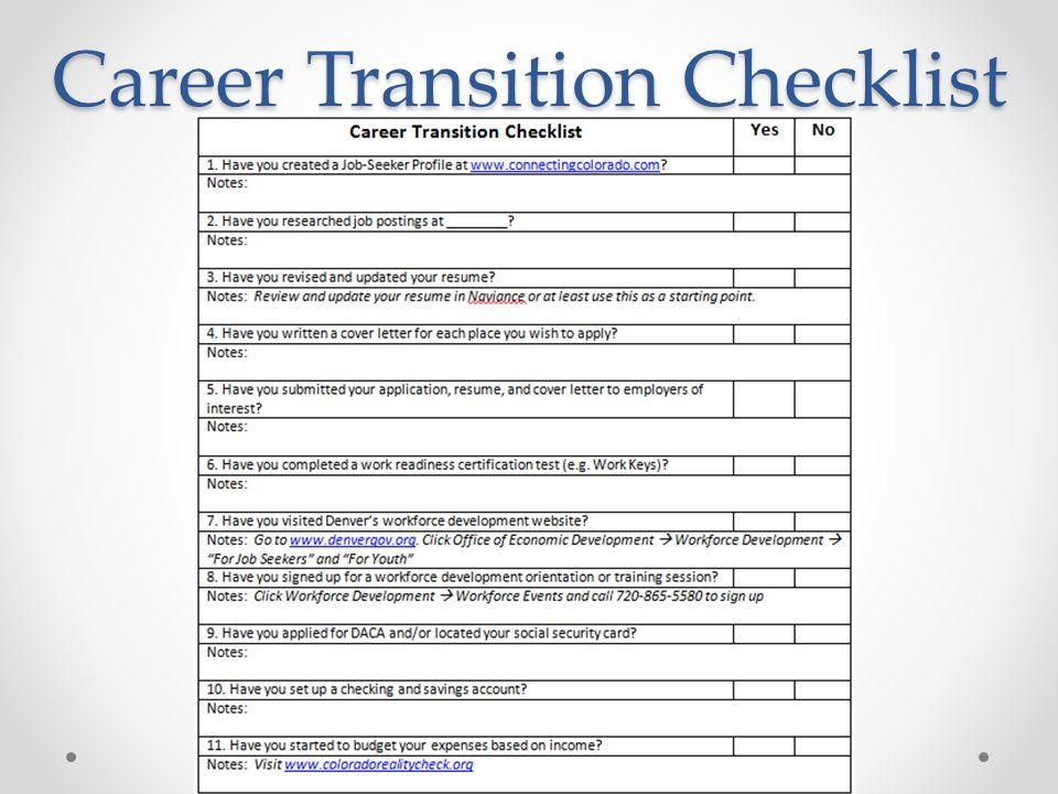 Career Transition Checklist