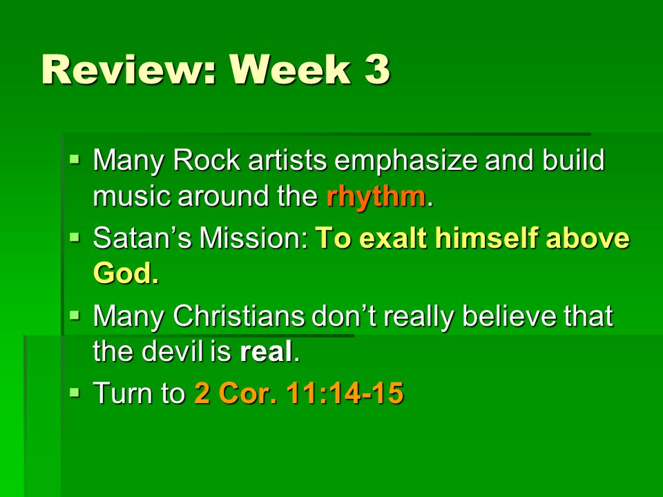 Satan wants to pervert God's music! Satan is one of the chief promoters of Christian Music GOD