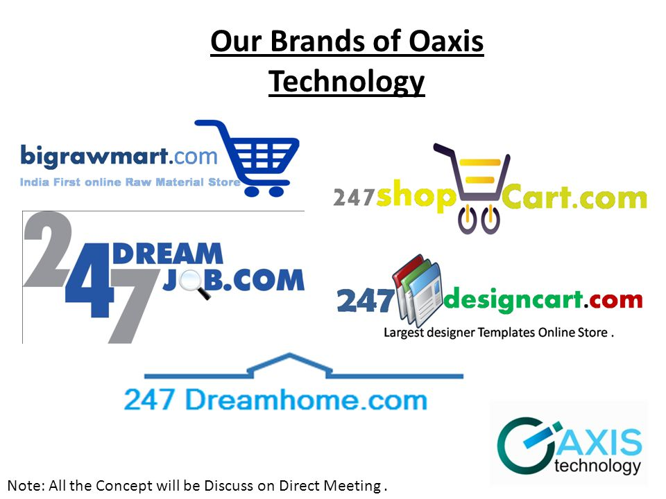 Note: All the Concept will be Discuss on Direct Meeting. Our Brands of Oaxis Technology