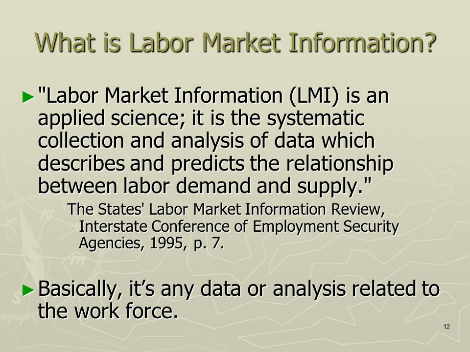 12 What is Labor Market Information.