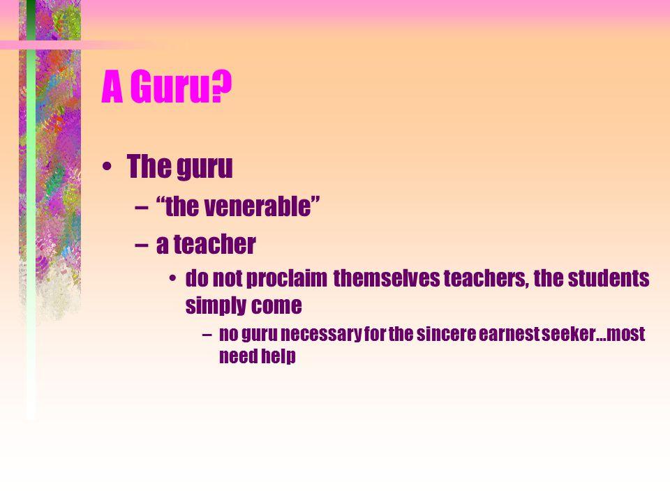A Guru.